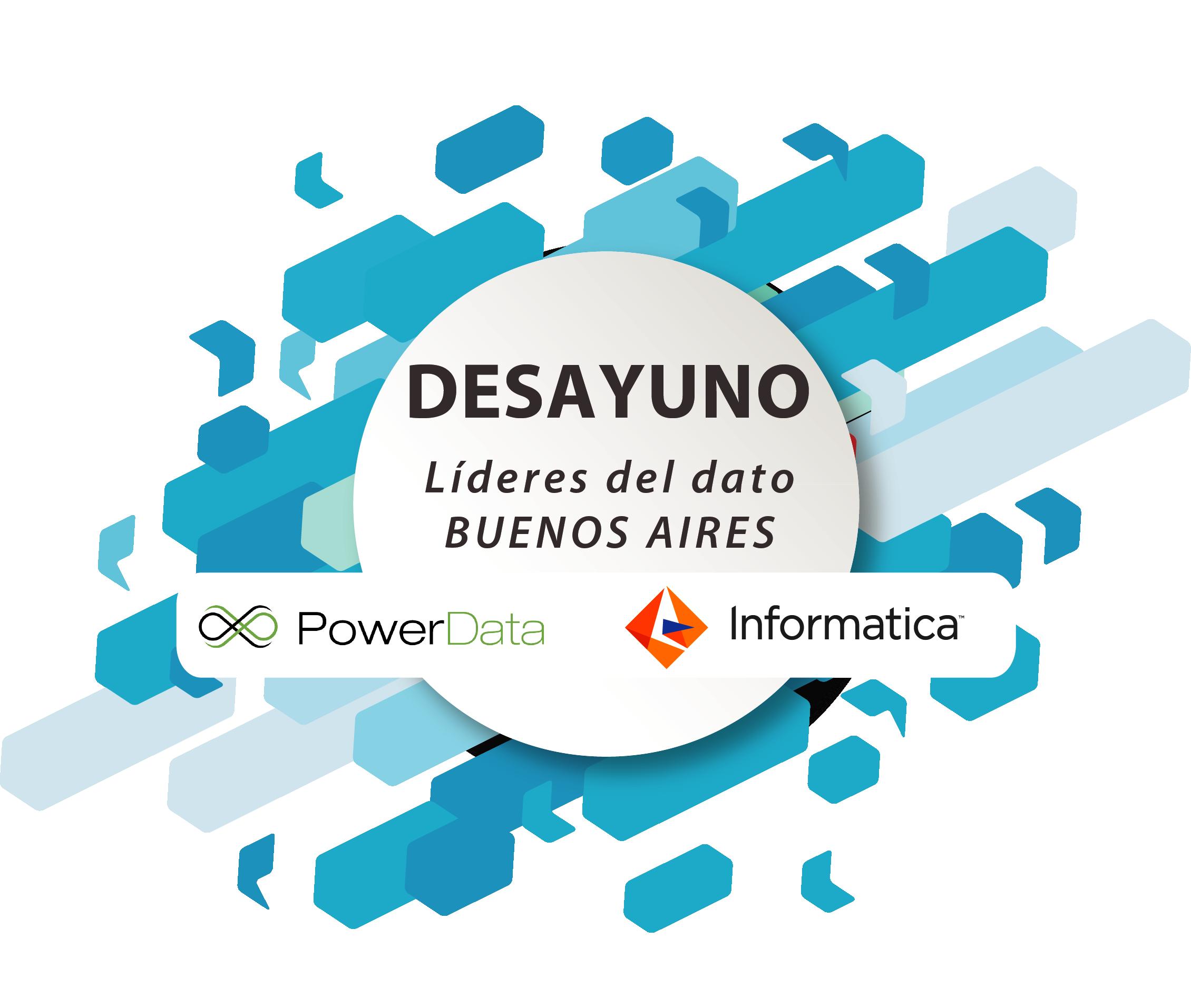 Informatica & PowerData convocan a los líderes del Dato en Buenos Aires. Desayuno de CDOs